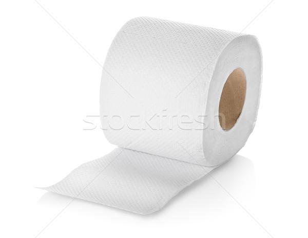 Carta igienica rotolare isolato bianco Foto d'archivio © Givaga