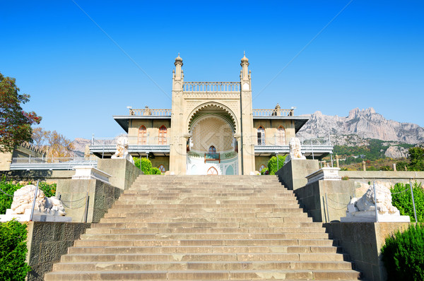 Stairs to palace Stock photo © Givaga