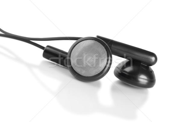 Siyah kulaklık yalıtılmış beyaz Stok fotoğraf © Givaga