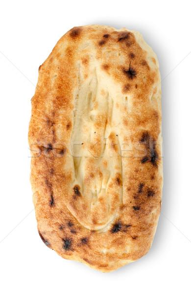 Pita chleba odizolowany biały fotografii białe tło Zdjęcia stock © Givaga