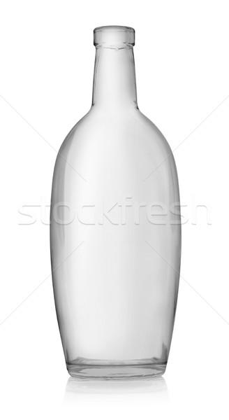 Lege fles wodka geïsoleerd witte alcohol Stockfoto © Givaga