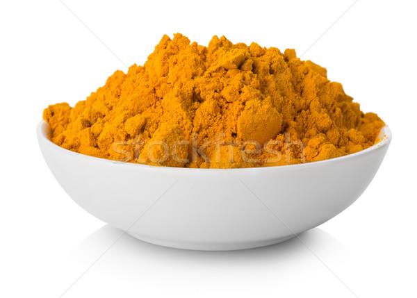 пластина изолированный белый продовольствие Spice Сток-фото © Givaga