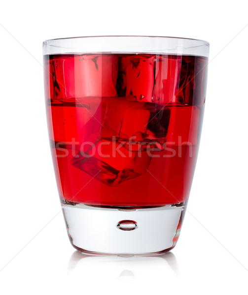 Red drink with ice cubes in a glass Stock photo © Givaga