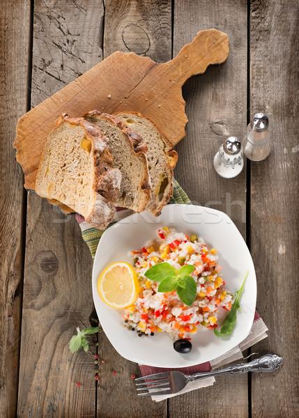 Risotto legumes pão comida tabela Foto stock © Givaga