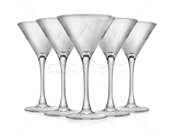空っぽ マティーニグラス カクテル ガラス 孤立した 白 ストックフォト © Givaga