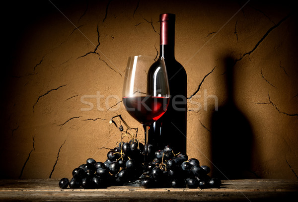 Wine in clay cellar Stock photo © Givaga