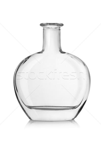 Vide bouteille cognac isolé blanche Photo stock © Givaga