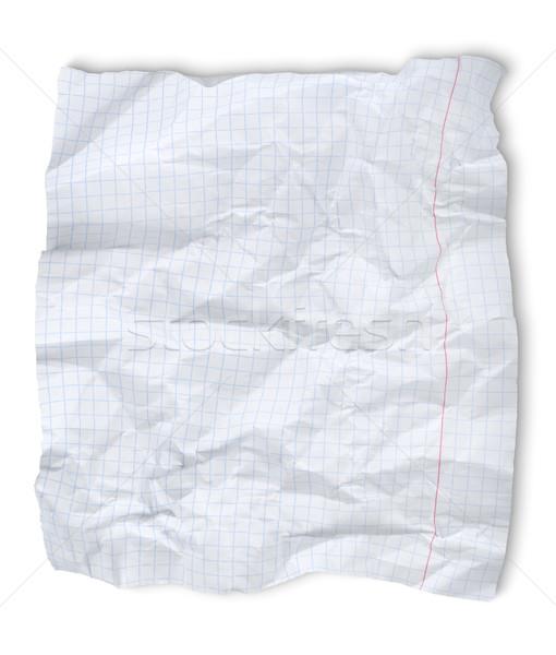 Foto stock: Folha · papel · isolado · branco · folha