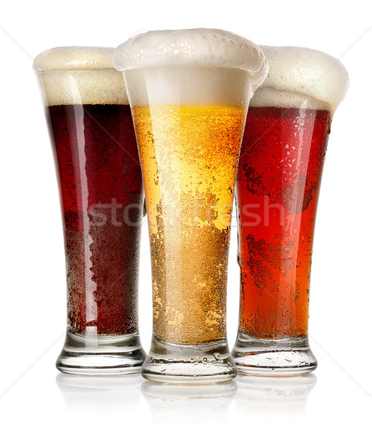 Tall glasses of beer Stock photo © Givaga