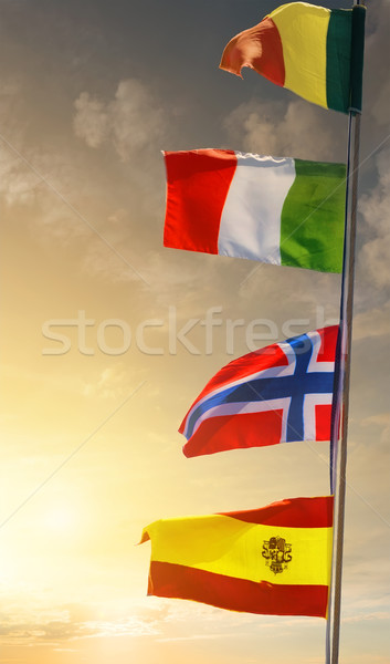 Mast with flags Stock photo © Givaga