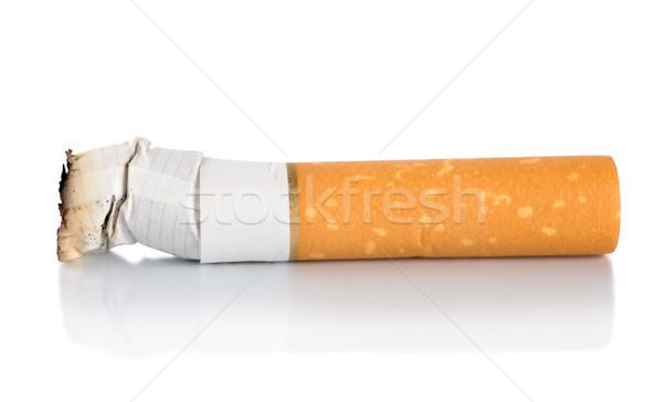 Sigara popo yalıtılmış beyaz Stok fotoğraf © Givaga