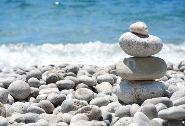 Stack sea pebbles Stock photo © Givaga