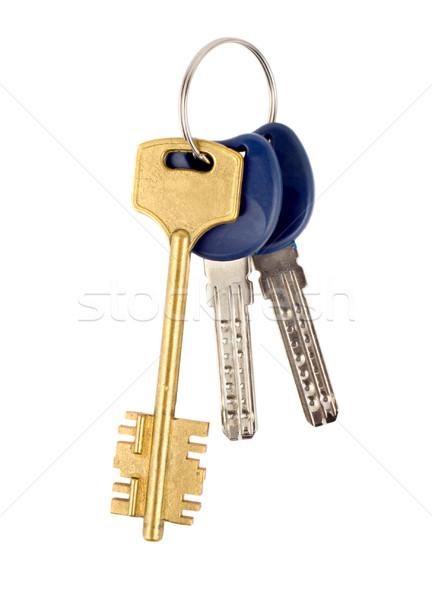 Kulcsok izolált fehér Stock fotó © Givaga