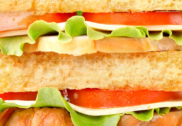 Background of delicious sandwich Stock photo © Givaga
