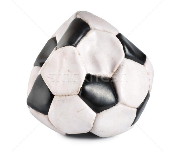 Deflated soccer ball Stock photo © Givaga