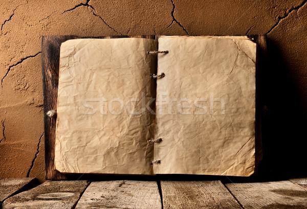 Eski kitap tablo kil duvar kitap Stok fotoğraf © Givaga