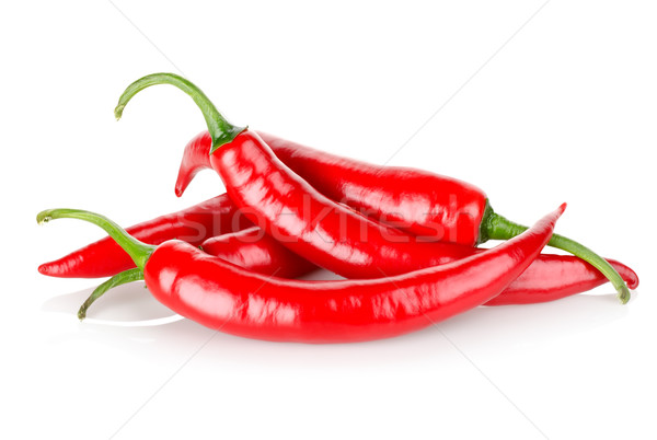 Stock photo: Hot chili peppers