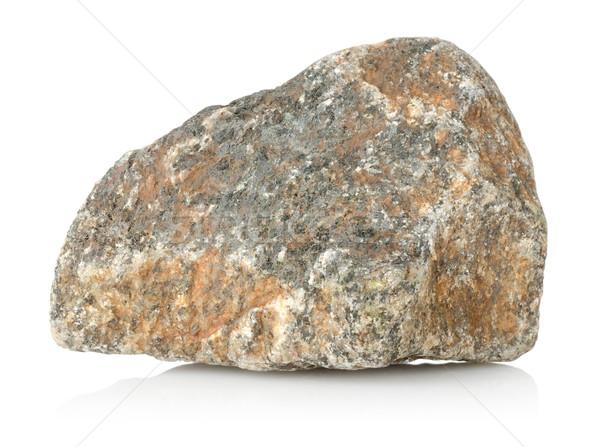 Granit taş yalıtılmış beyaz kimse yatay Stok fotoğraf © Givaga