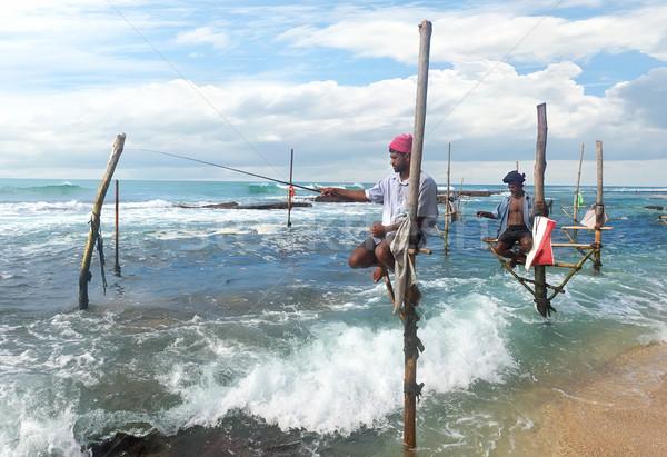 Vara local indiano oceano Sri Lanka céu Foto stock © Givaga