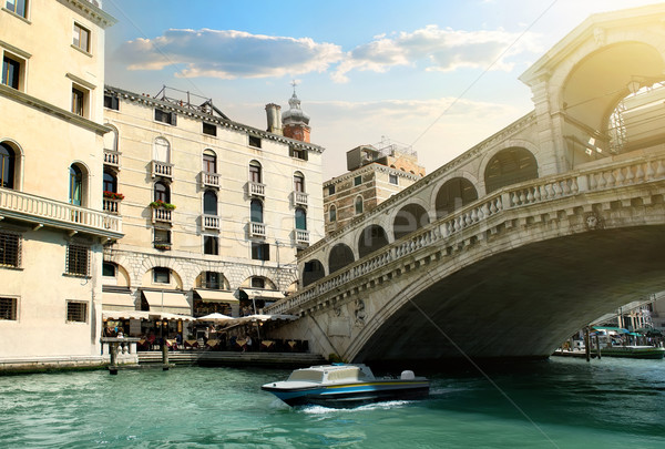Rialto bridge in Venice Stock photo © Givaga