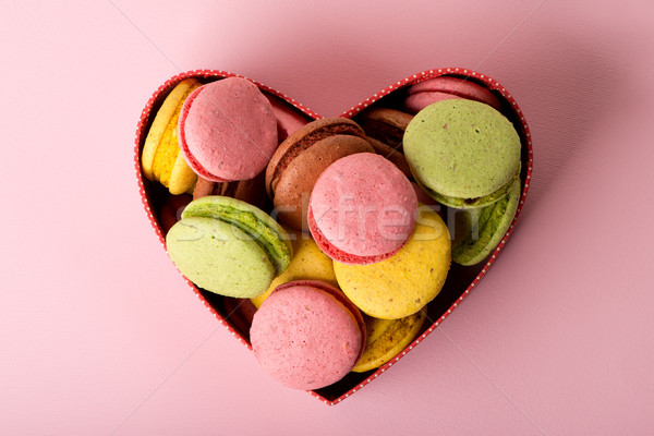 Macarons in gift box Stock photo © Givaga