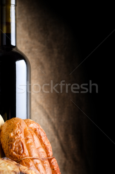 Meat and wine Stock photo © Givaga