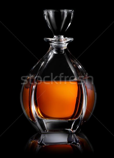 Decanter on black Stock photo © Givaga