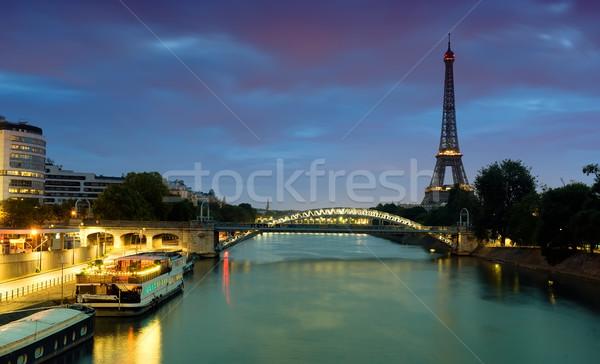 Cityscape view eiffel torre acqua Foto d'archivio © Givaga