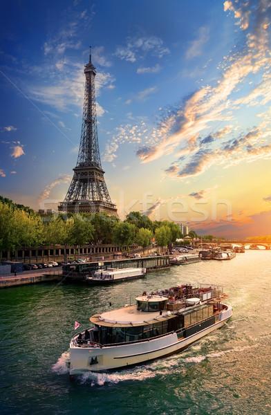 On bank of Seine Stock photo © Givaga