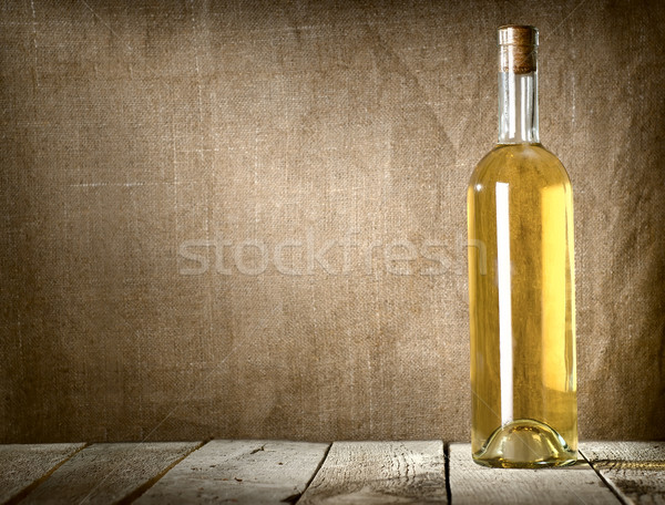 Dessert wine on the canvas Stock photo © Givaga