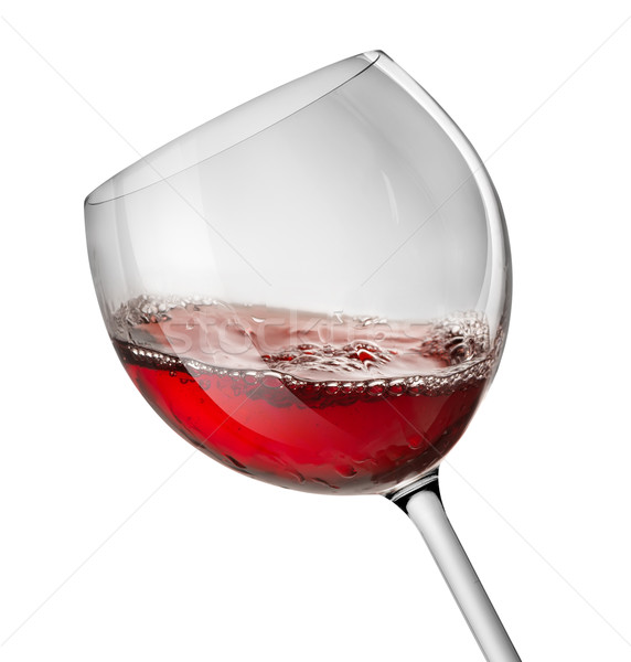 Moving red wine glass Stock photo © Givaga