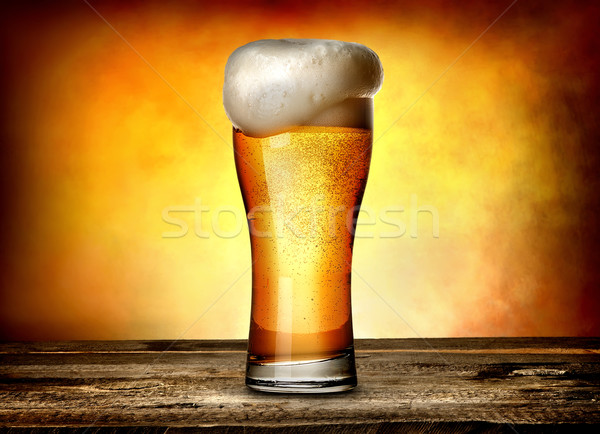 Foam on beer Stock photo © Givaga