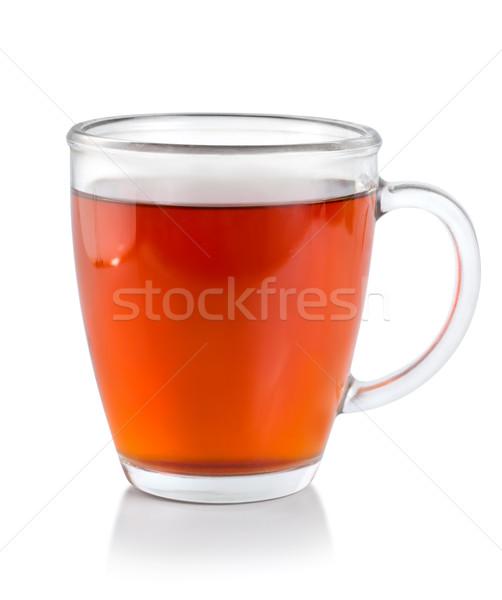 Thé verre tasse chemin isolé blanche Photo stock © Givaga