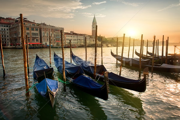 Puesta de sol arquitectura Venecia Italia agua ciudad Foto stock © Givaga