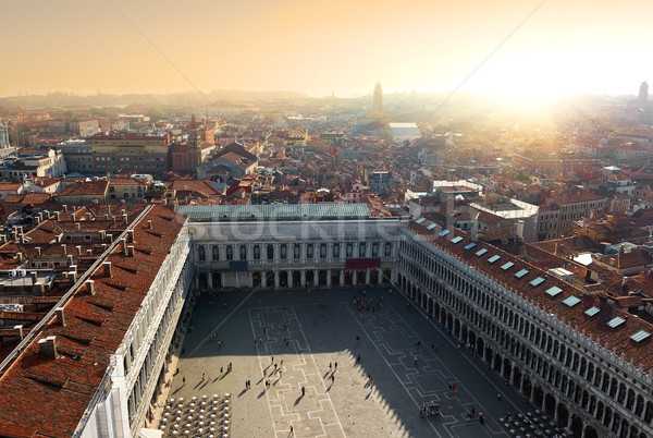 Top view of Piazza San Marco Stock photo © Givaga