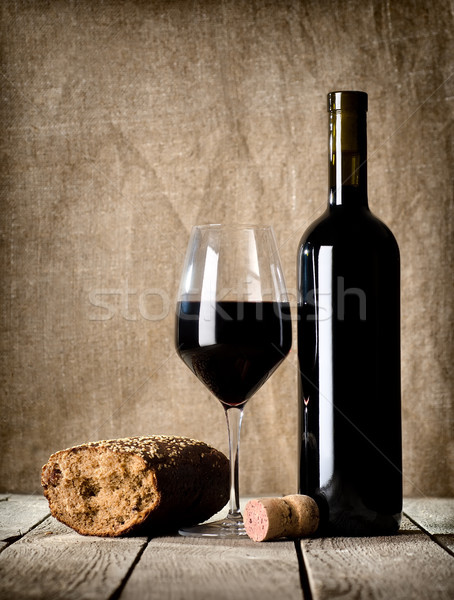Wine and cork Stock photo © Givaga
