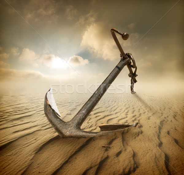 Anchor in desert Stock photo © Givaga