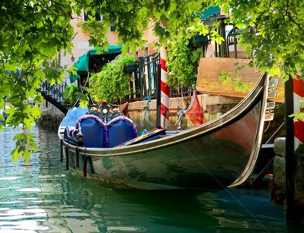 Gondol su güzel sokak Venedik İtalya Stok fotoğraf © Givaga