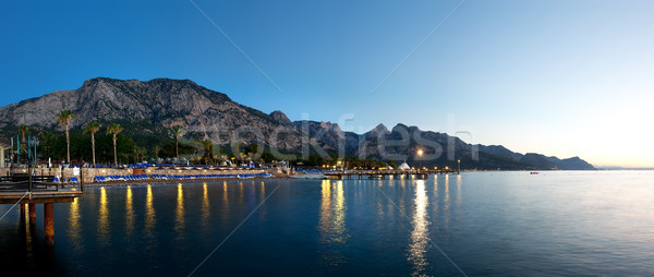 Sea and mountains in evening Stock photo © Givaga