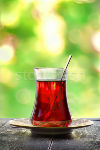 Vidro turco chá vermelho turva árvore Foto stock © Givaga
