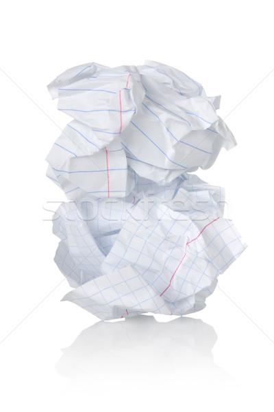 Сток-фото: лист · бумаги · изолированный · белый · документа · мусора