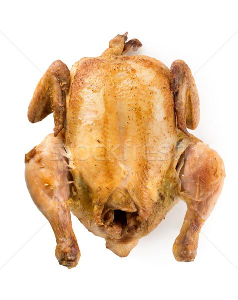 Frango assado isolado branco frango natal almoço Foto stock © Givaga