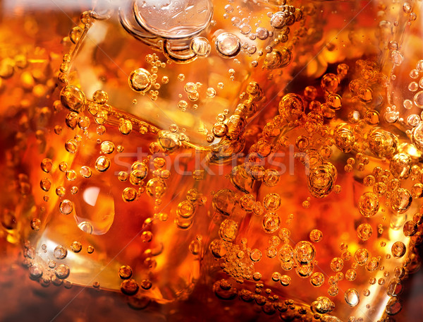 Kola buz kabarcıklar cam içecekler soğuk Stok fotoğraf © Givaga