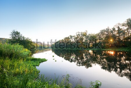 Sunset by the river Stock photo © Givaga