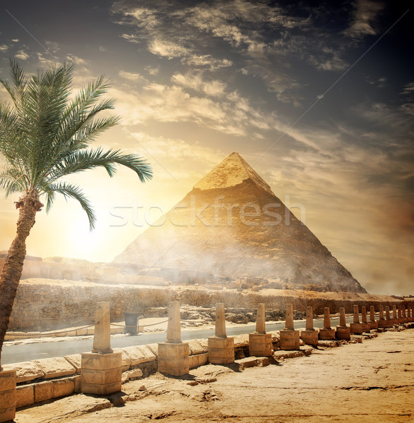 Pyramid of Khafre Stock photo © Givaga