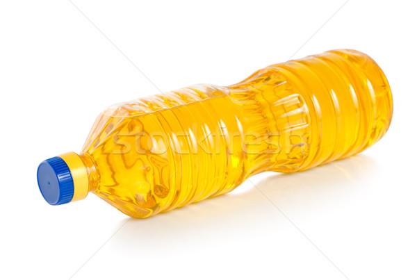 Olaj műanyag üveg zöldség izolált fehér Stock fotó © Givaga