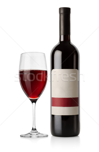 Bottle of red and wineglass Stock photo © Givaga