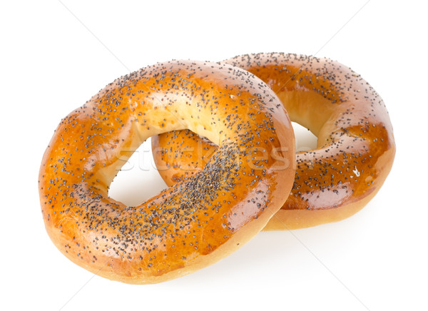 Bagels with poppy seeds Stock photo © Givaga