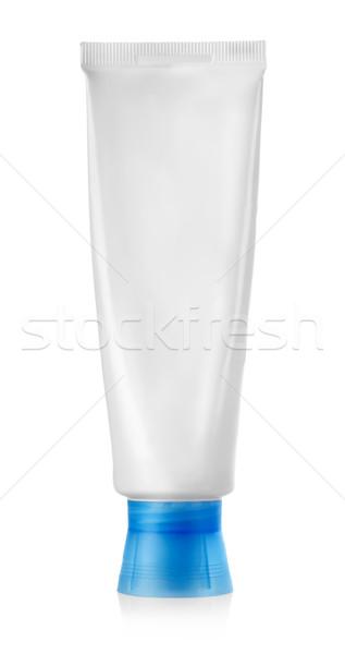 Tüp diş macunu yalıtılmış beyaz kozmetik kimse Stok fotoğraf © Givaga