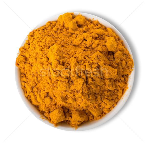 Turmeric powder in plate Stock photo © Givaga